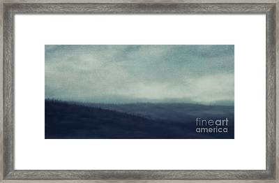 Sea Of Trees And Hills Framed Print by Priska Wettstein