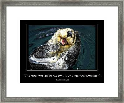 Sea Otter Motivational  Framed Print by Fabrizio Troiani