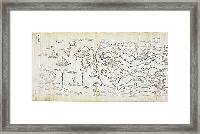Sea Route In Japan Framed Print by British Library