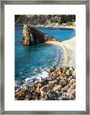 Sea Stack Of Monterosso Framed Print by Prints of Italy