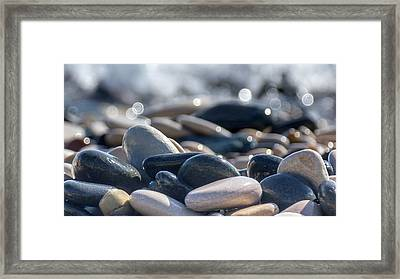 Sea Stones  Framed Print by Stelios Kleanthous