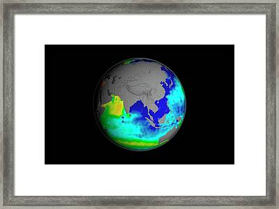 Sea Surface Salinity Framed Print by Nasa/goddard Space Flight Center Scientific Visualization Studio