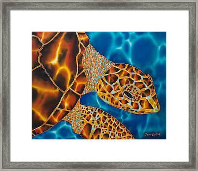 Sea Turtle Framed Print by Daniel Jean-Baptiste