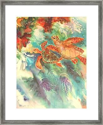 Sea Turtles Framed Print by Deborah Younglao