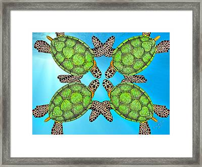 Sea Turtles Framed Print by Betsy C Knapp