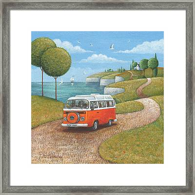 Sea Van Variant 1 Framed Print by Peter Adderley