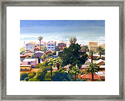 Sea View Del Mar Framed Print by Mary Helmreich