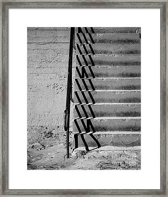 Sea Wall Steps Framed Print by Perry Webster