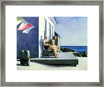 Sea Watchers Framed Print by Edward Hopper