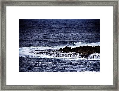 Sea Waterfall Framed Print by Douglas Barnard
