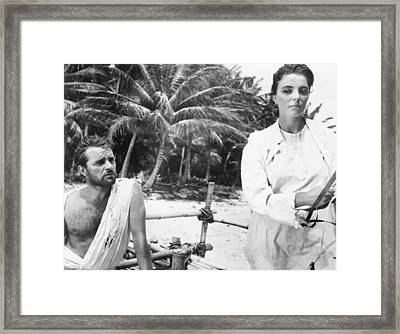 Sea Wife, From Left, Richard Burton Framed Print by Everett