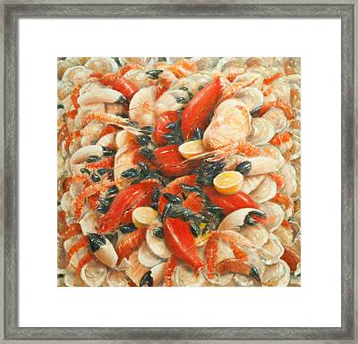 Seafood Extravaganza Framed Print by Lincoln Seligman