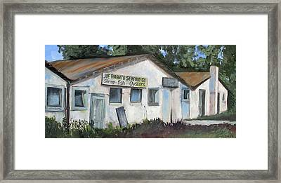 Seafood House Apalach Framed Print by Susan Richardson