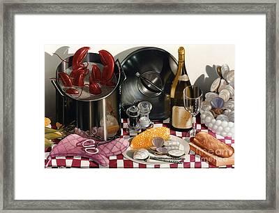 Seafood Serenade 1996  Skewed Perspective Series 1991 - 2000 Framed Print by Larry Preston