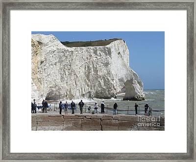 Seaford Head Cliffs Framed Print by Phil Banks