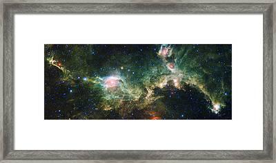 Seagull Nebula Framed Print by Adam Romanowicz