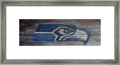 Seahawks Framed Print by Xochi Hughes Madera