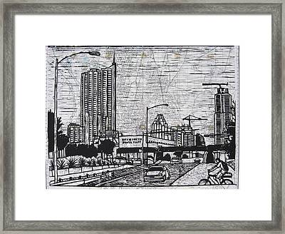 Seaholm On Map Framed Print by William Cauthern