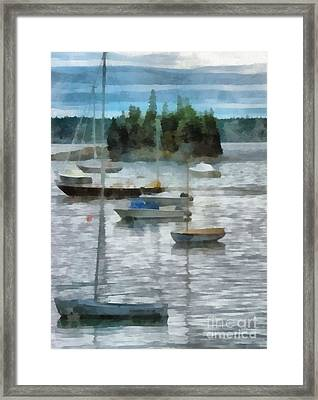 Seal Harbor Maine Framed Print by Helene Guertin