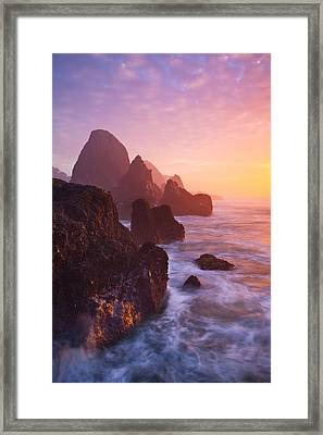 Seal Rock Sunset Framed Print by Darren  White