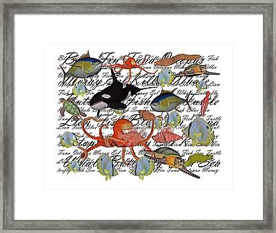 Sealife Dreamland IIi Framed Print by Betsy C Knapp