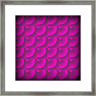 Seamless Spirals Framed Print by Valentino Visentini