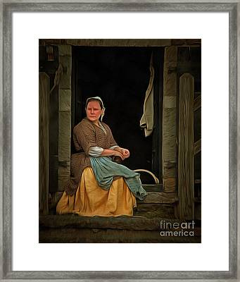 Seamstress Framed Print by Edward Fielding
