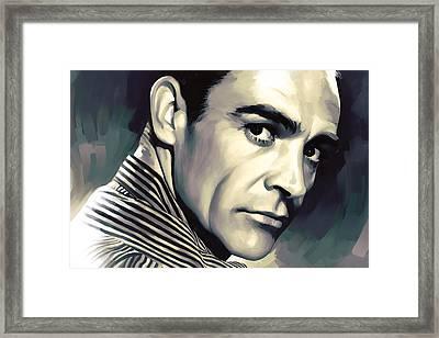 Sean Connery Artwork Framed Print by Sheraz A
