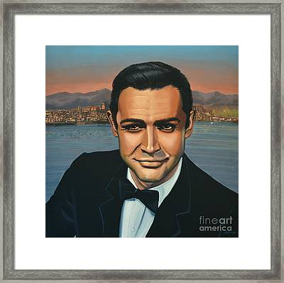 Sean Connery As James Bond Framed Print by Paul Meijering