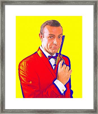 Sean Connery In From Russia With Love Framed Print by Art Cinema Gallery