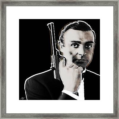 Sean Connery James Bond Square Framed Print by Tony Rubino