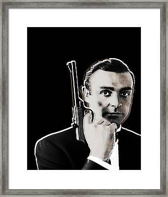 Sean Connery James Bond Vertical Framed Print by Tony Rubino