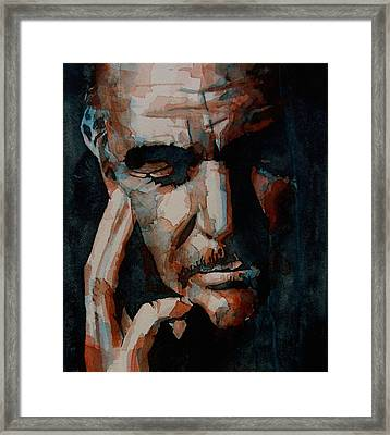 Sean Connery  Framed Print by Paul Lovering