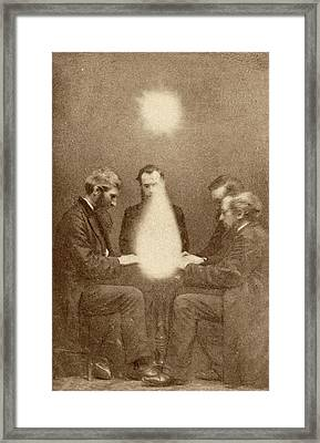Seance And Psychic Forces Framed Print by American Philosophical Society