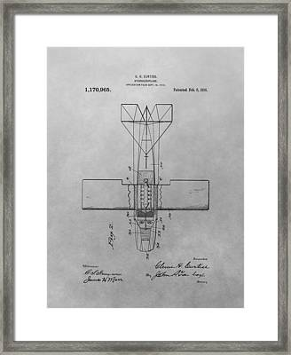 Seaplane Patent Drawing Framed Print by Dan Sproul