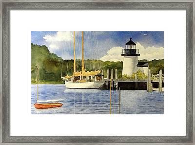 Seaport Setting Framed Print by Lizbeth McGee