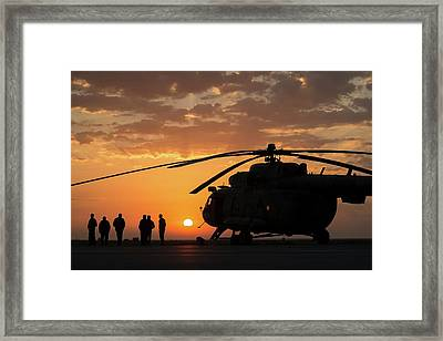 Search And Rescue Helicopter Framed Print by Nasa/bill Ingalls