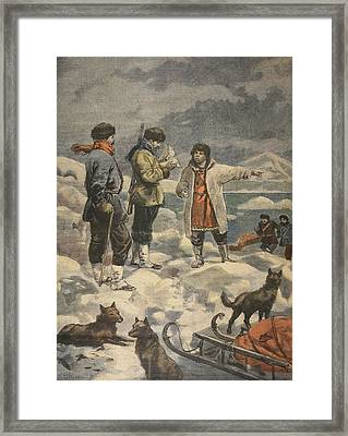 Searching For Andree, News! Framed Print by French School