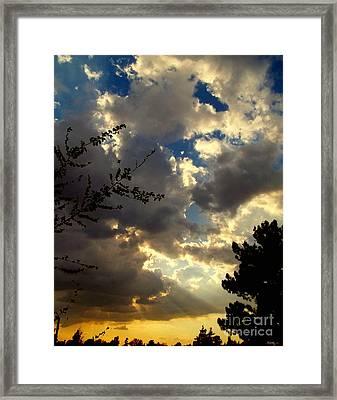 Searchlight Framed Print by Glenn McCarthy Art and Photography