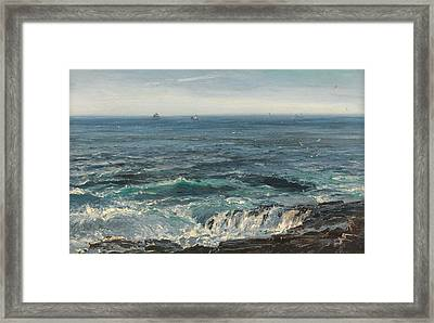 Seascape 1877 Framed Print by Henry Moore