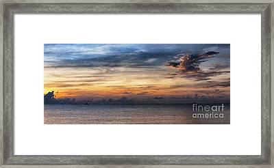 seascape Asia panorama BIG painting Framed Print by Antony McAulay