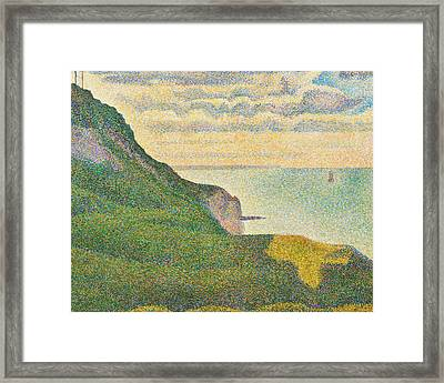 Seascape At Port En Bessin Normandy Framed Print by Georges Seurat