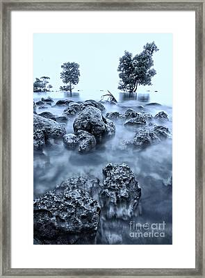 Seascape At Sunrise Framed Print by Jojie Alcantara
