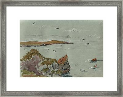 Seascape Atlantic Ocean Framed Print by Juan  Bosco