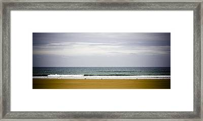 Seascape Framed Print by Frank Tschakert