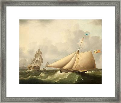 Seascape Framed Print by James E. Buttersworth