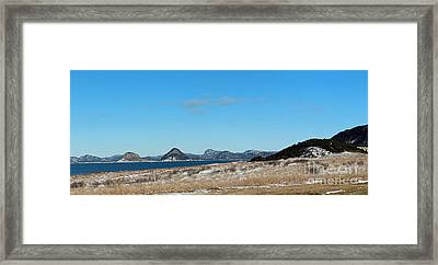 Seascape - Panorama Framed Print by Barbara Griffin