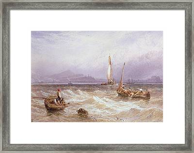 Seascape Framed Print by Myles Birket Foster