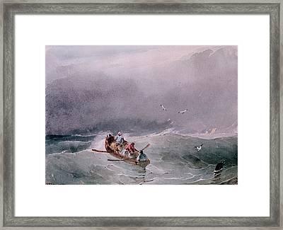 Seascape  Framed Print by Richard Parkes Bonington