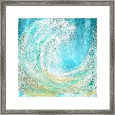 Seascapes Abstract Art - Mesmerized Framed Print by Lourry Legarde
